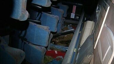 Acidente com microônibus mata um e deixa 19 feridos em Aspásia - Uma mulher de 42 anos morreu e outras 19 ficaram feridas em um acidente com um microônibus durante a madrugada desta quarta-feira (29) em Aspásia (SP). O veículo voltava de Rio Preto (SP).
