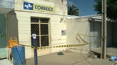 Explosão de Correios e correspondente bancário em São José da Lagoa Tapada - Caso aconteceu durante a madrugada.