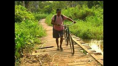 Moradores do Urumari cobram melhorias em ponte para pedestres - Ponte fica entre a PA-370 e a Av. Dom Frederico Costa.