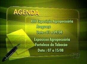 Confira o calendário das exposições agropecuárias no estado - Confira o calendário das exposições agropecuárias no estado