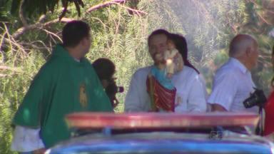Comunidade de Foz comemora dia de São Cristóvão - Motoristas e carros receberam a benção