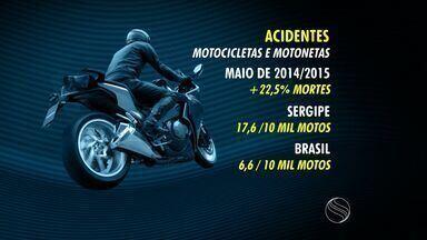Sergipe é recordista em acidentes com motocicletas e motonetas - Sergipe é recordista em acidentes com motocicletas e motonetas
