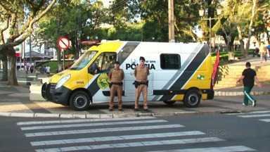 Começou hoje em Guarapuava a Patrulha Comercial - A ideia da Polícia Militar é reforçar o policiamento e a segurança, já que o número de roubos aumentou no comércio.