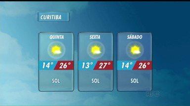 Calor deve continuar em todo o Paraná - Na quinta-feira (05), mínima de 14 graus e máxima de 26 graus.