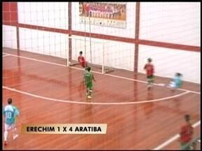 Começa semifinal da Taça RBS de futsal - O primeiro jogo teve goleada em Erechim, RS.