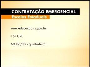 Abertas as inscrições para contratação emergencial de servidores - Concurso é da secretaria de Educação do estado.