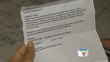 GM anuncia demissões na fábrica de São José dos Campos, SP - Segundo trabalhadores, medida atingiu funcionários fora do grupo em layoff. Empresa não informou número de demitidos.