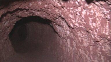 Descoberta paleotoca com 3 m de altura feita por preguiças gigantes, em RO - Paleotoca foi encontrada por pesquisadores do Serviço Geológico do Brasil.Segundo pesquisador, local tem quase 100 metros de extensão.