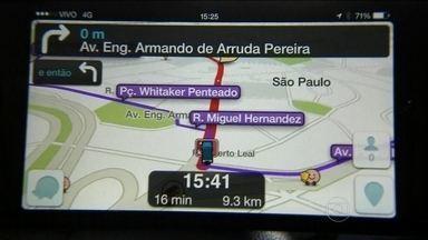 Confiar no GPS pode ser um problema nas grandes cidades - Lugares dominados por criminosos nem sempre são identificados pelos dispositivos. No fim de semana, a atriz Fabiana Karla passou por um susto.