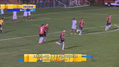Esporte: Brasil de Pelotas vence Portuguesa na Série C - Xavante segue líder do Grupo B da competição.