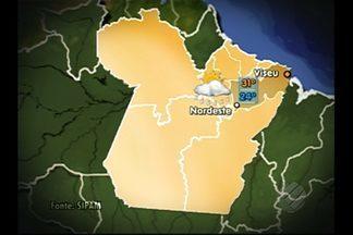 Veja a previsão do tempo para Belém e interior nesta terça-feira (11) - Nas regiões sudoeste e sudeste, o sol toma conta do dia e não há previsão de chuvas. No nordeste e no Marajó, pancadas de chuva com trovoadas no começo da tarde.
