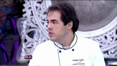 Participantes explicam como fizeram os pratos que prepararam durante a prova - Ana Maria explica que Júlio Rocha e Fiuk perderam ponto por estourar o tempo