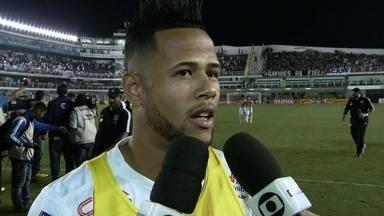 Geuvânio destaca vantagem do Santos para o segundo jogo - Jogador espera que time continue jogando bem na partida de volta.