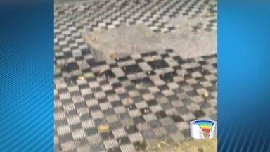 Moradores registram chuva de granizo em São José dos Campos - Cidade registra chuvas pela primeira vez desde 25 de julho.