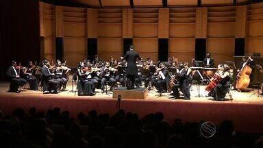 Orquestra Sinfônica de Sergipe se apresenta do Teatro Tobias Barreto - Orquestra Sinfônica de Sergipe se apresenta do Teatro Tobias Barreto.