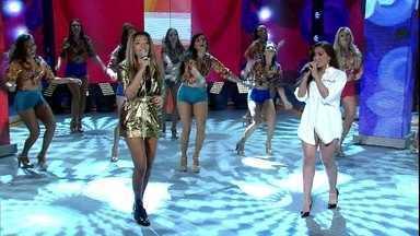 Ludmilla e Anitta arrasam em dueto com 'Quero Te Encontrar' - Cantoras agitam a plateia do Domingão com hit de Claudinho e Buchecha