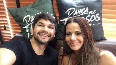 Viviane Araújo revela medo no 'Dança' - Atriz tem primeiro ensaio de forró e diz ter medo de ser jogada para o alto