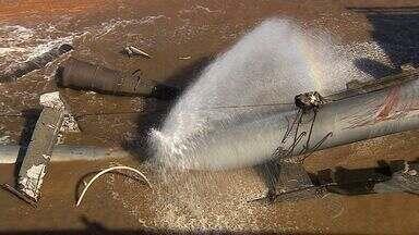 Vazamentos aumentam desperdício de água - Vazamentos aumentam desperdício de água.