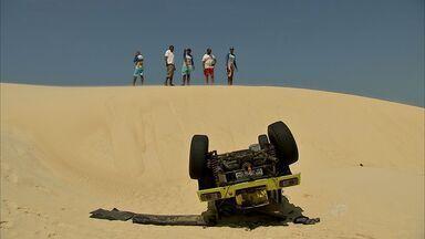 Em menos de 24 horas, Ceará registra dois acidentes em passeio de buggy em dunas - Uma pessoa morreu e seis ficaram feridas.