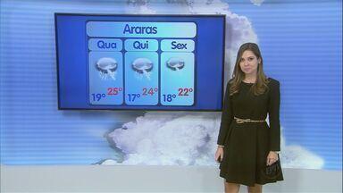 Confira a previsão do tempo para São Carlos e região - Confira a previsão do tempo para São Carlos e região