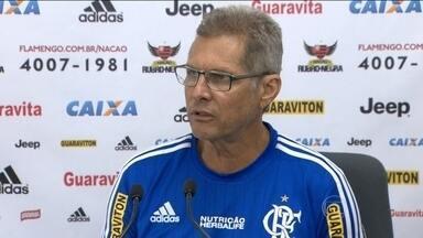 Oswaldo de Oliveira monta quebra-cabeça no time para enfrentar o Cruzeiro de olho no G-4 - Reservas disputaram jogo-treino no Ninho do Urubu
