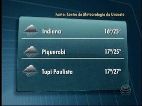 Saiba como ficam as temperaturas nesta quinta-feira - Após um dia de temporal, o sol voltou a brilhar no Oeste Paulista.