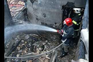 Um incêndio destruiu parcialmente uma casa no bairro da Campina - Caso foi registrado nesta quarta-feira, 9.