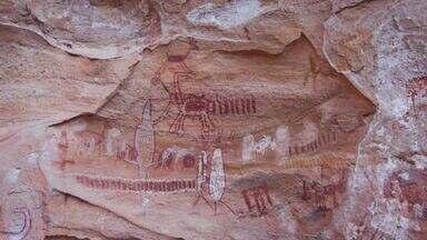 Hoje é dia de... Arqueologia - Pintura - No Parque Nacional Serra da Capivara, Alexandre descobre um mundo antigo e fascinante, nas abundantes e espetaculares artes rupestres.