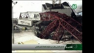 Mais de 100 pessoas morrem na Grande Mesquita de Meca, na Arábia Saudita - Pelo menos 107 pessoas morreram na Grande Mesquita de Meca, na Arábia Saudita. Elas foram atingidas por um guindaste usado nas obras de ampliação do templo mais sagrado dos muçulmanos.