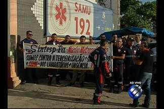 Funcionário do Samu estão paralisando as atividades por 12 horas em Belém - Eles protestam contra as condições de trabalho.