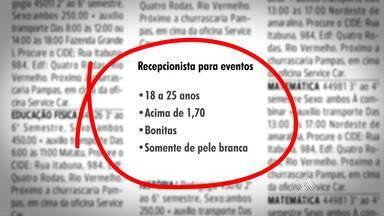 Justiça condena empresa que pedia recepcionista de pele clara em seleção de emprego - Empresa foi condenada por assédio moral e práticas discriminatórias. No estúdio, o procurador Pedro Lino de Carvalho, que aplicou a sentença, fala sobre o caso.
