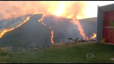 Mato Grosso lidera ranking de queimadas no Brasil - Bombeiros explicam que 90% dos incêndios são causados pela ação do homem. Fogo, na sexta-feira (18), provocou o desligamento de duas linhas e quase metade do Distrito Federal ficou sem luz.