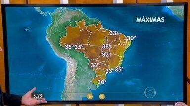 Confira como fica o tempo nesta quarta-feira (23) em todo o Brasil - O Rio Grande do Sul vai viver mais um dia de muita chuva causado pela frente fria que está parada sobre o estado. Mas na maior parte do Brasil prevalece mesmo o sol e o tempo seco.