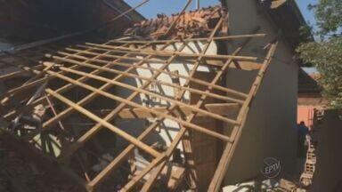 Incêndio em casa de Sumaré deixa duas pessoas gravemente feridas - O incêndio aconteceu após a explosão de um botijão de gás na manhã desta quarta. As pessoas que estavam na casa seguem internadas.
