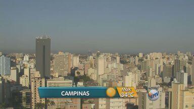 Confira a previsão do tempo para esta quarta-feira (23) - Campinas tem previsão de máxima para 35ºC.