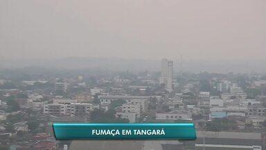 Queimadas deixam Tangará da Serra encoberta por fumaça - Queimadas deixam Tangará da Serra encoberta por fumaça