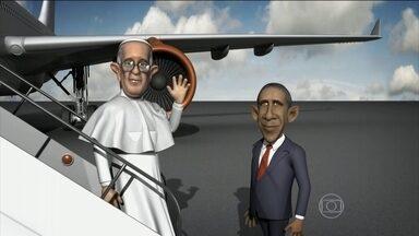 Papa Pop na América saúda Fidel e Obama - O Papa Francisco fez uma viagem histórica a Cuba e, logo em seguida, foi o primeiro pontífice a fazer um discurso no Congresso americano.