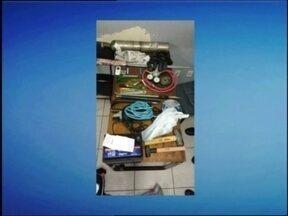 Material que seria usado para arrombar caixas eletrônicos é apreendido - Três suspeitos foram detidos e serão investigados