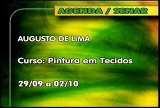 Confira os cursos oferecidos pelo Senar - Em Augusto de Lima tem curso de pintura em tecido.