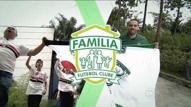 São paulinos e palmeirense se enfrentam no Família Futebol Clube - Torcedores fazem prévia do clássico do Brasileirão