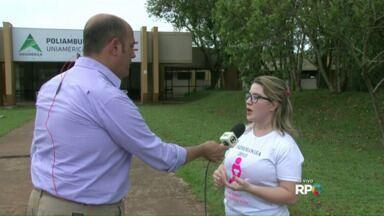 Começam as atividades do outubro rosa em Foz do Iguaçu - O evento é realizado em todo o mundo para alertar as mulheres a prevenir o câncer de mama.