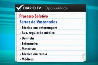 Ferraz inscreve para concurso pública na área da saúde até quarta-feira (7) - Ao todo são 53 vagas.