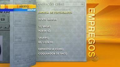 Empregos: empresa de fertilizantes tem vagas em Porto Alegre - Assista ao vídeo.