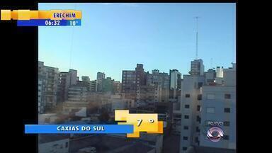 Tempo: serra gaúcha tem chance de geada nesta segunda-feira (5) - Temperaturas devem ficar baixas no RS devido à massa de ar seco.