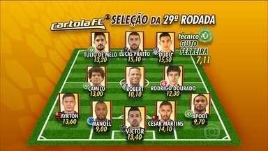 Confira a seleção do Cartola da 29ª rodada do Brasileirão - Lucas Pratto lidera o Troféu Gringo do Ano.