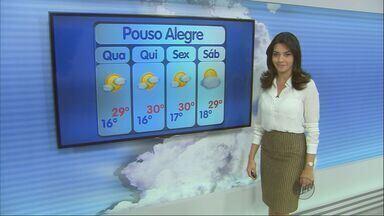 Confira a previsão do tempo para esta quarta-feira (7) no Sul de Minas - Confira a previsão do tempo para esta quarta-feira (7) no Sul de Minas