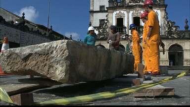 JPB2JP: Achados arqueológicos no Centro de João Pessoa - Descoberto um novo piso no adro de São Francisco.