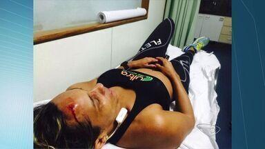 Atleta é agredida durante treino no Morro do Moreno, ES - Ela treinava para uma corrida quando levou uma paulada na cabeça.Atleta conseguiu fugir e pediu socorro em uma igreja.