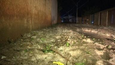 Chuva de granizo e ventania provoca estragos em vários pontos do DF - Na Vila Basevi, a chuva de granizo da noite de terça-feira (6) assustou moradores. As ruas ficaram cobertas de gelo e casas foram destelhadas. Em outras regiões do DF houve alagamentos e queda de árvores.