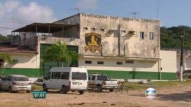 Polícia ainda procura presos que fugiram da Penitenciária Barreto Campelo - Secretaria de Ressocialização divulgou fotos dos cinco fugitivos para ajudar buscas